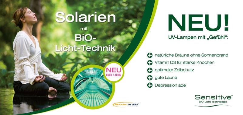 Solarien mit Bio-Licht-Therapie