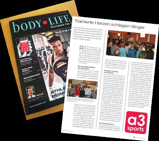 Bodylife berichtet aus dem a3sports