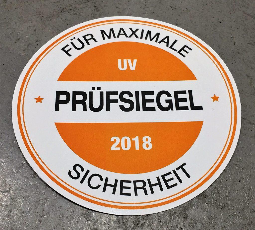 Solarium Prüfsiegel 2018