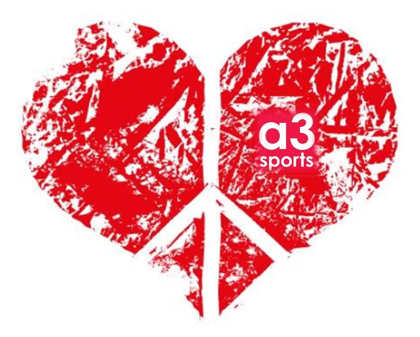 Valentinstagsherz Mit A3sports Logo